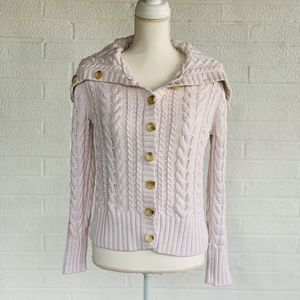 Lands' End Cable Knit Cardigan